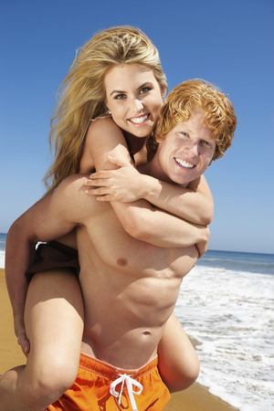 Young Couple at the Beach Stock Photo - 5438366