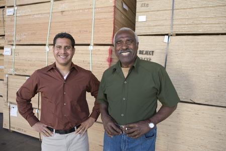 Men in warehouse, portrait Stock Photo - 5449511