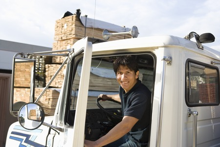 Mid-adult truck driver Stock Photo - 5449534