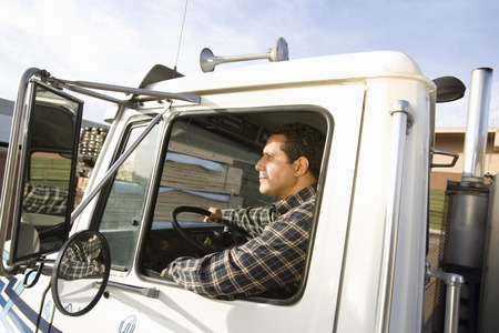 Mid-adult truck driver Stock Photo - 5449535