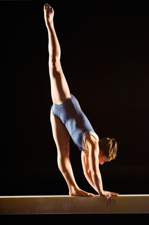 Gymnast on Balance Beam Stock Photo - 5449555