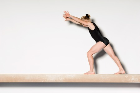 Gymnast on Balance Beam Stock Photo - 5449557