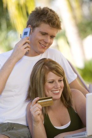 Couple Making Credit Card Purchase Stock Photo - 5449704