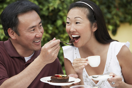Couple Eating Cake Stock Photo - 5449857