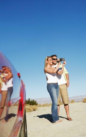 Couple Taking Photographs Stock Photo - 5459974