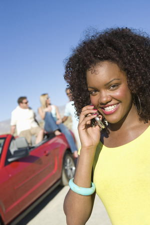 Woman Using a Cell Phone Stock Photo - 5459997