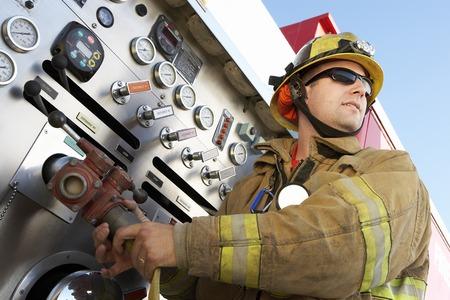 camion de bomberos: Bomberos
