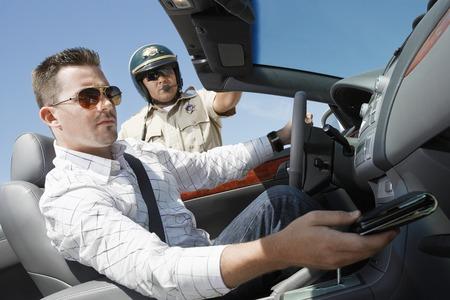 motor officer: Police Officer Asking for Drivers License