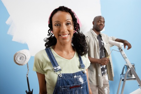 Couple Painting Room Together Stock Photo - 5460053