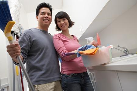 Couple Doing Housework Stock Photo - 5460070