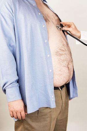 El hombre con sobrepeso