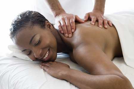 Woman having back massage Stock Photo - 5470014