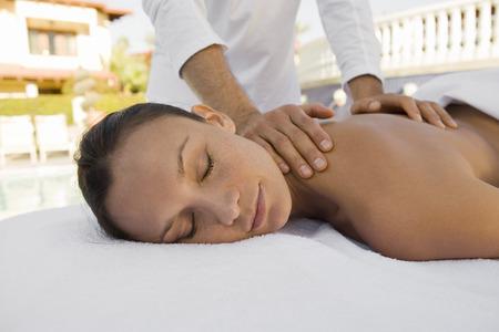 Woman having massage Stock Photo - 5470044