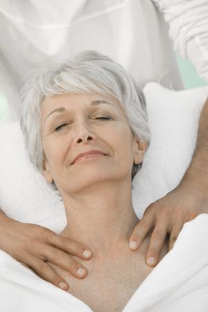 Senior woman having massage Stock Photo - 5470111