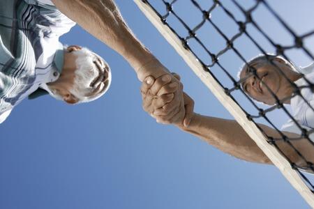 poign�es de main: Fair-Play sur la Cour de tennis