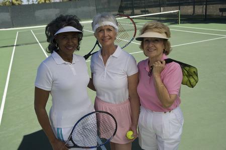 3 つの女子テニス選手、肖像画