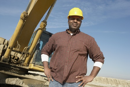construction machinery: Construction Worker on Site