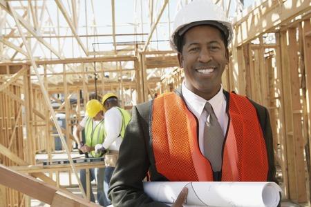land management: Surveyor on Construction Site