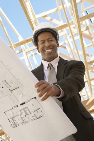 Surveyor on Construction Site Stock Photo - 5470230