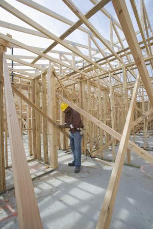 建設労働者の検査フレームワーク 写真素材 - 5470272