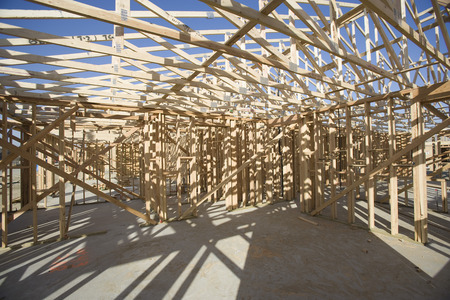 built structure: Wooden house construction