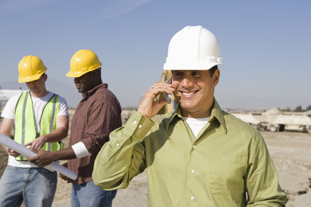 サイトの建設労働者