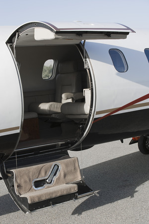 Doorway of private airplane. Stock Photo - 5475056