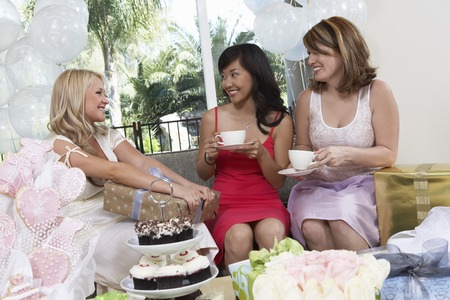 Friends Giving Gifts at Bridal Shower Stock Photo - 5475105