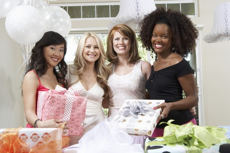 Friends Together at Bridal Shower Stock Photo - 5475110