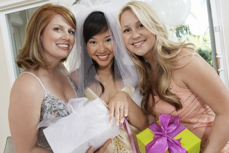 bridal shower: Bride and Friends Together at Bridal Shower LANG_EVOIMAGES