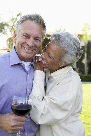 mixed marriage: Happy Older Couple
