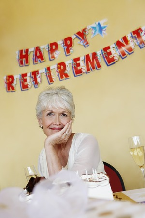 Woman at a Retirement Party Stock Photo - 5475255