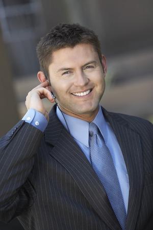 Businessman Using Telephone Headset Stock Photo - 5475355