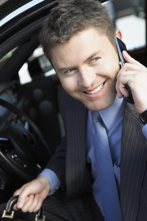 Businessman Using Cell Phone Stock Photo - 5475356