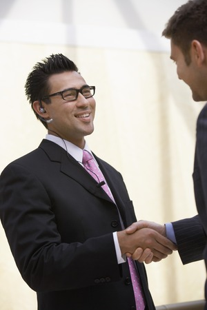 two persons only: Two Businessmen Shaking Hands