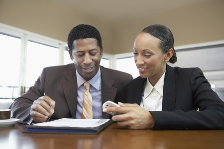 Businessman and Businesswoman in Meeting Stock Photo - 5475366