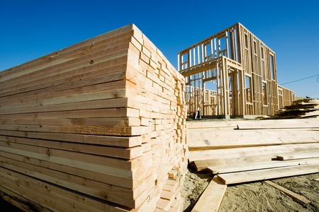 new beginning: Construction Frame of a House