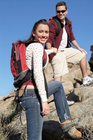 Young Couple on Hike Stock Photo - 5412203