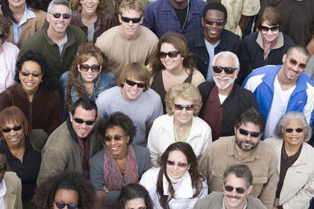 Crowd wearing sunglasses Stock Photo - 5475662
