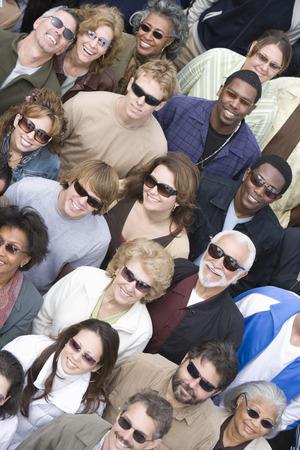 Crowd wearing sunglasses Stock Photo - 5475663