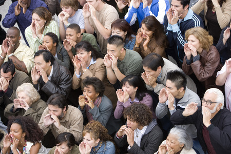 spectators: Crowd shouting