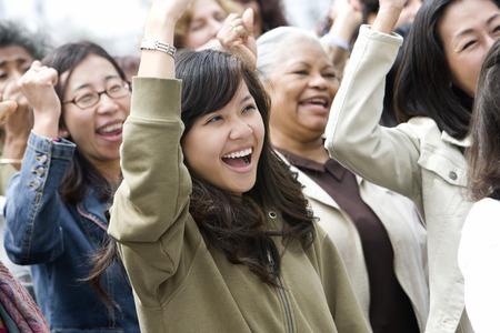 Crowd of women celebrating  Stock Photo - 5475700