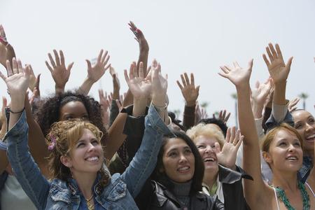 Crowd of women celebrating  Stock Photo - 5475701