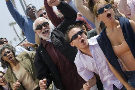 Crowd celebrating Stock Photo - 5475706
