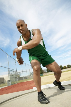 Discus Thrower Preparing to Throw Stock Photo - 5475735