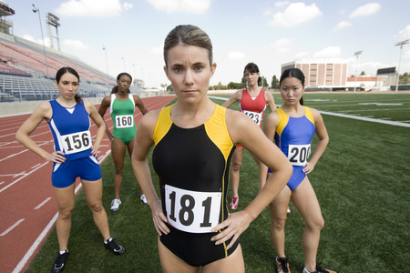 Athletes ready to run Stock Photo - 5475865
