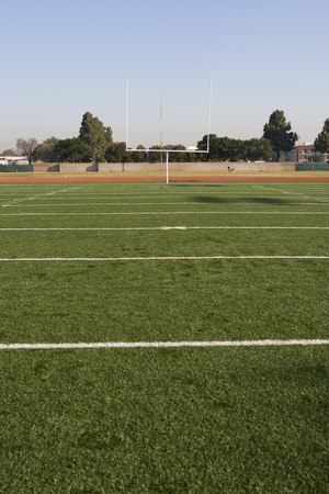 goalpost: Detail of American Football Field LANG_EVOIMAGES