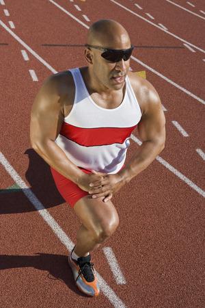Athlete warming up before run Stock Photo - 5475931