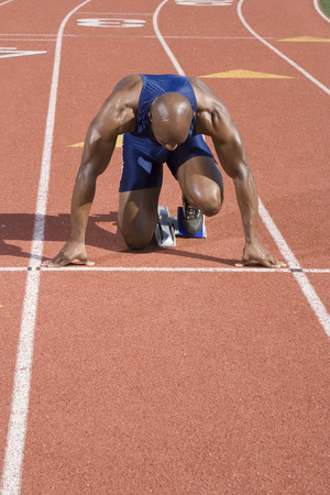 Athlete ready to run Stock Photo - 5475948