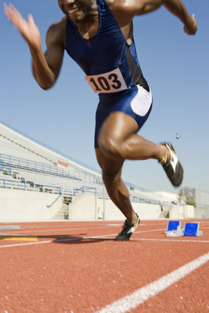 Athlete starting to run Stock Photo - 5475952